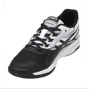 ASICS Upcourt 2 Black White Volleyball Shoes 7.5